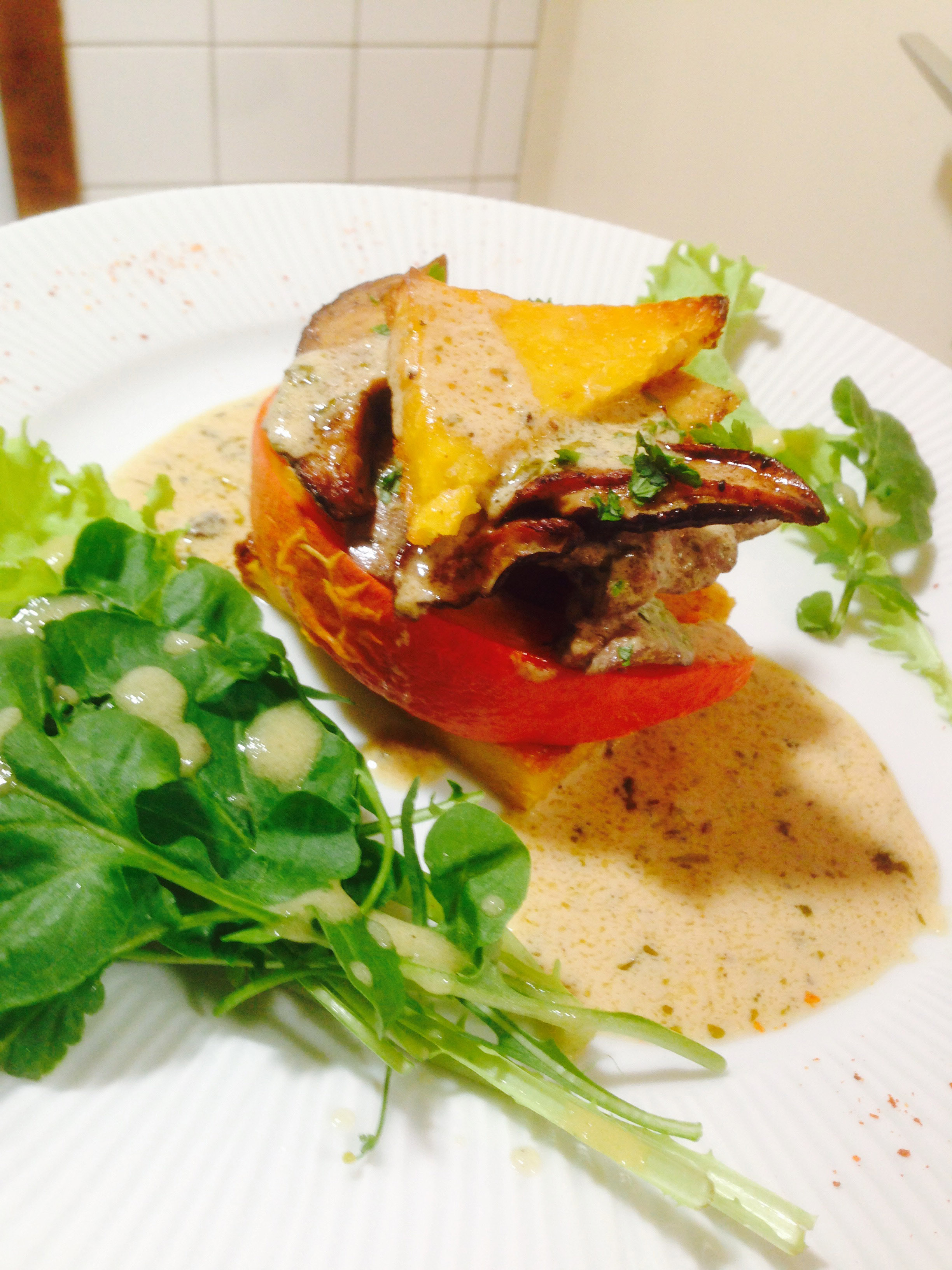 assiette cèpes:polenta 2