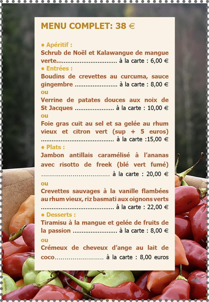 menu st Nic